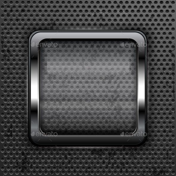 Square Web Button  - Miscellaneous Vectors