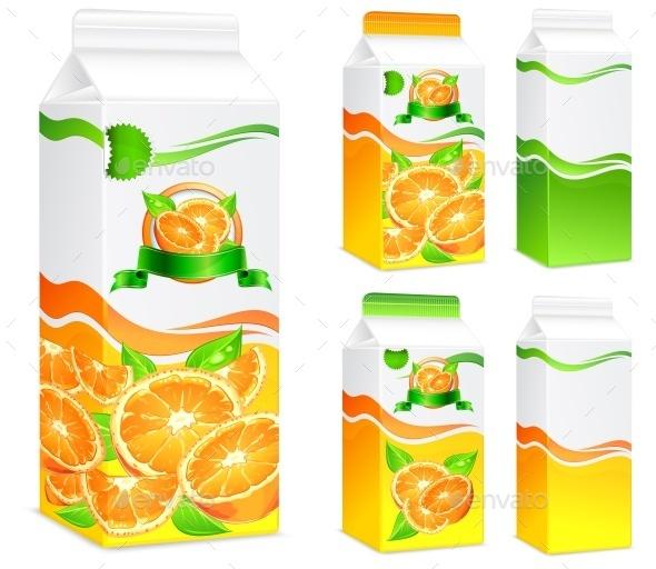 Packages for Orange Juice - Miscellaneous Vectors