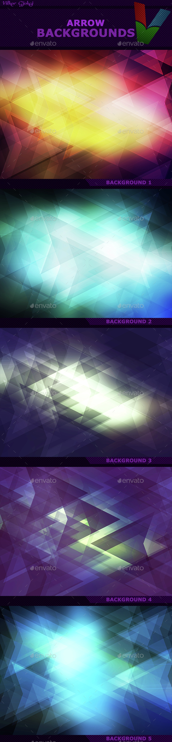 Arrow Backgrounds I - Abstract Backgrounds