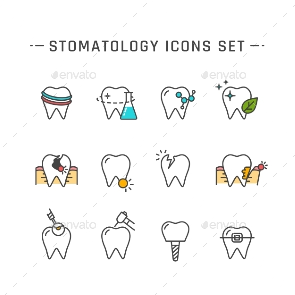 Stomatology Icons Set - Miscellaneous Icons