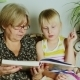 Grandmother Reading a Book For Girls - VideoHive Item for Sale