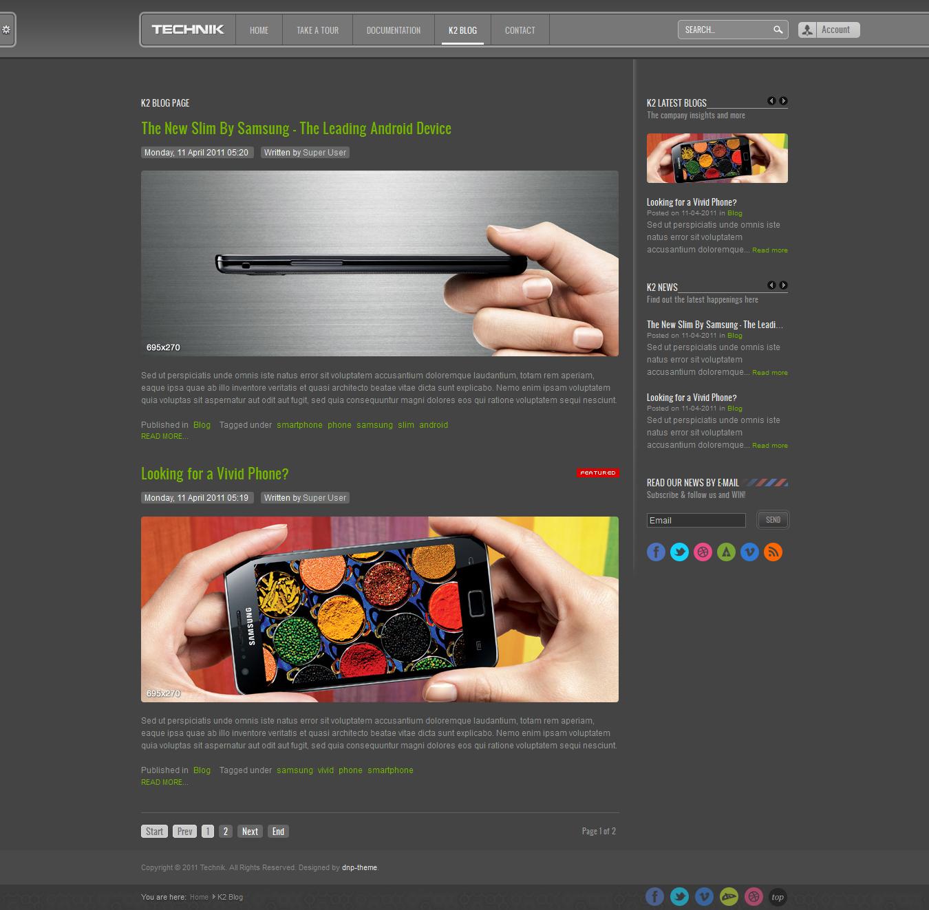 technik modern corporate template for joomla by dnp theme