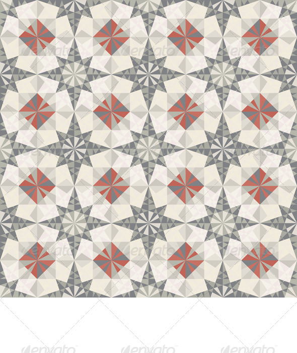Vector Seamless Pastel Geometric Pattern - Patterns Decorative
