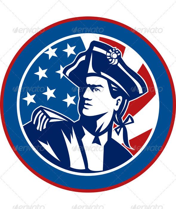 American Patriot Minuteman Revolution Militia - People Characters