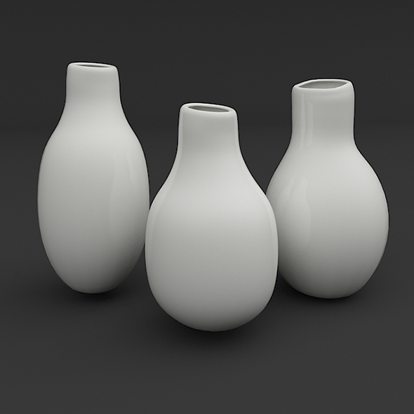 Designer Vase Set - 3DOcean Item for Sale