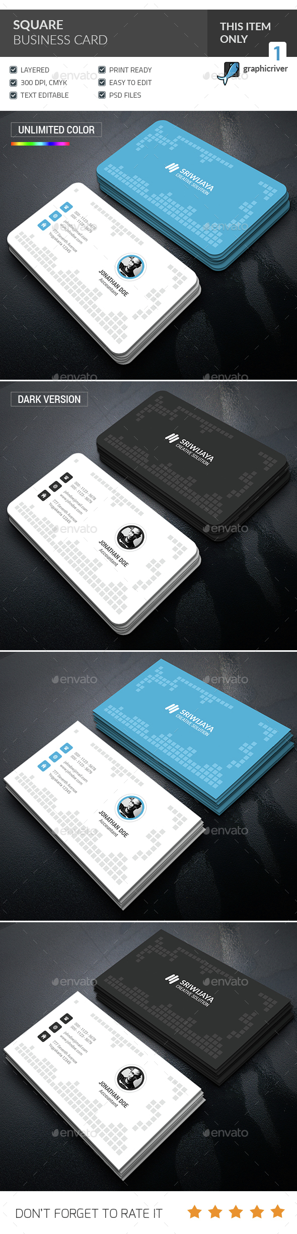 Square Business Card  - Corporate Business Cards