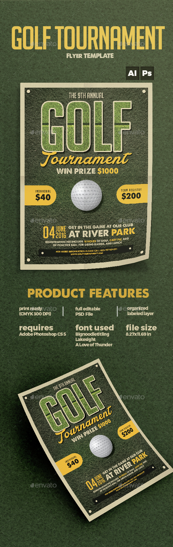 Golf Flyer - Sports Events