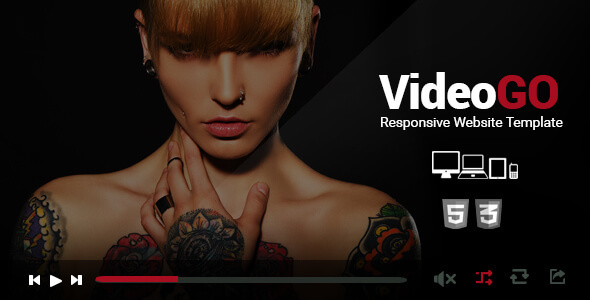 VideoGo - Responsive Video Site Template - Entertainment Site Templates