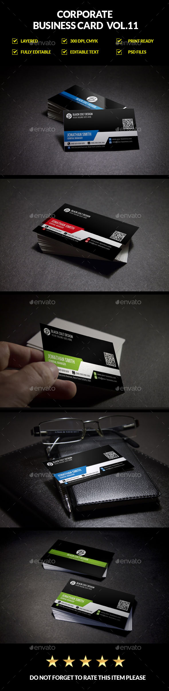 Corporate Business Card Vol.11 - Corporate Business Cards