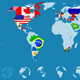 Country Flags On Detailed World map - GraphicRiver Item for Sale
