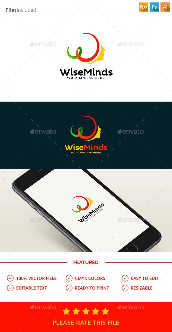 Wise Mind Logo - Humans Logo Templates