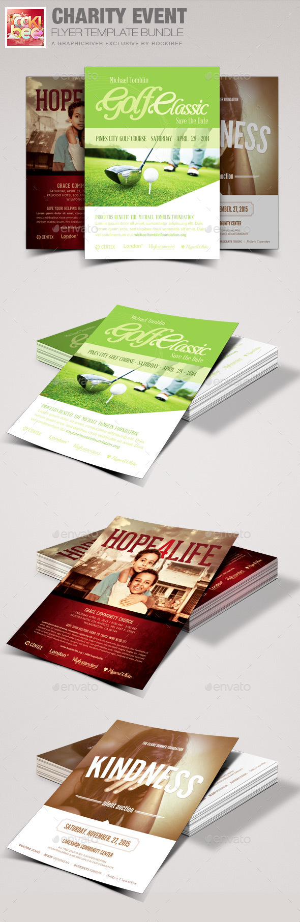 Charity Event Flyer Template Bundle - Events Flyers