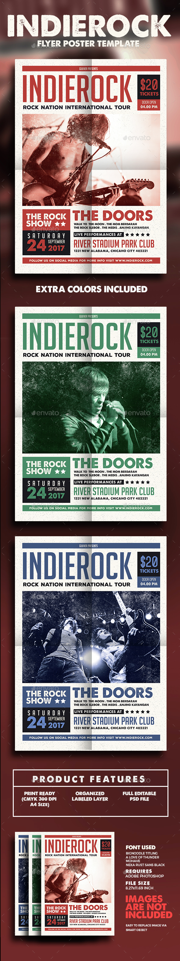 Indie Rock Flyer/Poster - Events Flyers