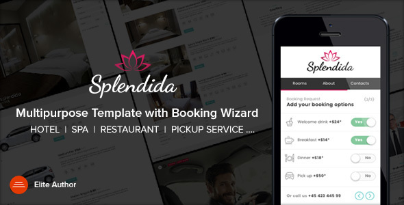 SPLENDIDA | Multipurpose template with Booking Wizard - Retail Site Templates