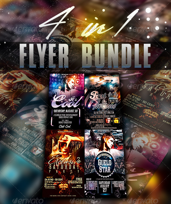 Cool Flyer Bundle - Clubs & Parties Events