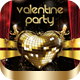 Valentine Gold Party Flyer - GraphicRiver Item for Sale