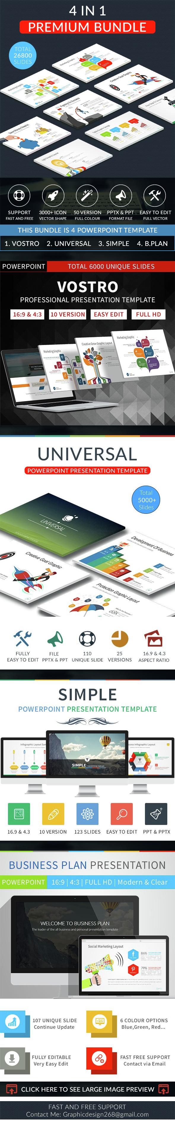 Premium bundle 4 in 1 business powerpoint template by toni777 premium bundle 4 in 1 business powerpoint template flashek Choice Image