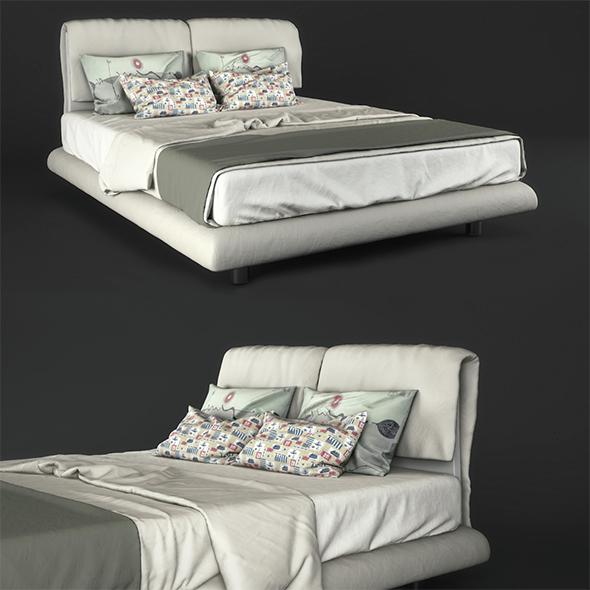 Bed Misura Emme Beatrice - 3DOcean Item for Sale