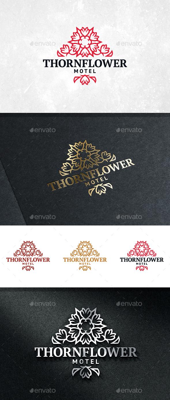 Thorn Flower Logo Template - Crests Logo Templates