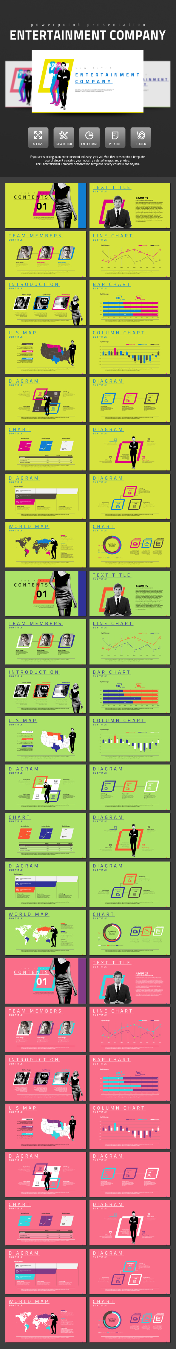 Entertainment Company - PowerPoint Templates Presentation Templates