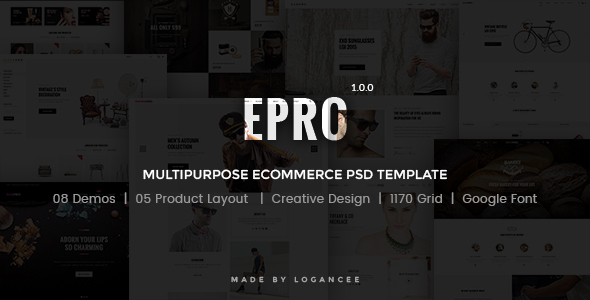Epro - Responsive Ecommerce PSD Template - Retail PSD Templates