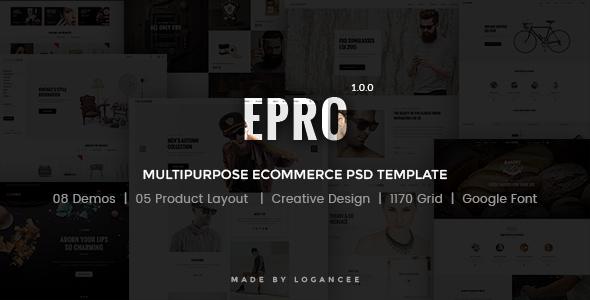 Epro - Responsive Ecommerce PSD Template