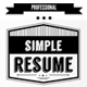 Simple Resume and Cover Letter - GraphicRiver Item for Sale