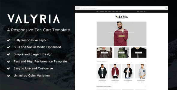 Download Valyria - A Responsive Zen Cart Template nulled version