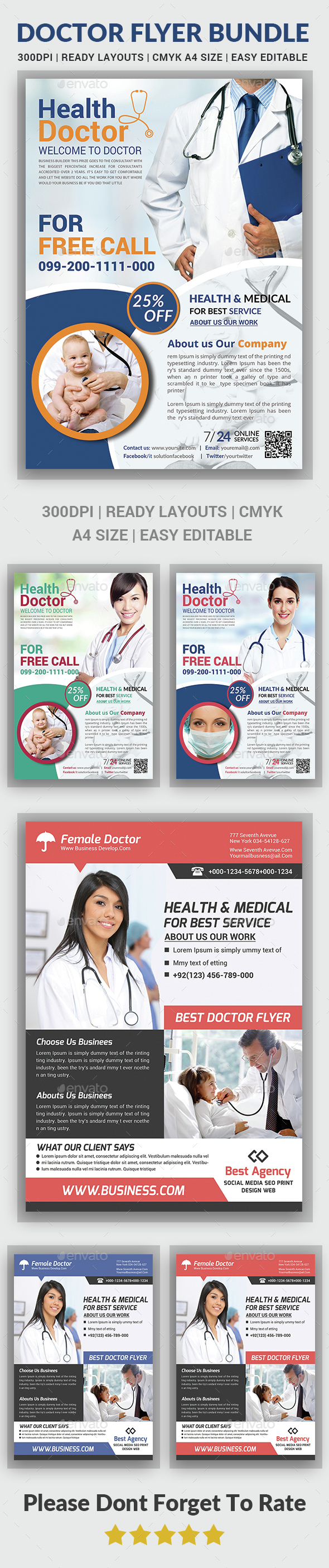 Health & Medical Doctors Flyer Bundle - Corporate Flyers