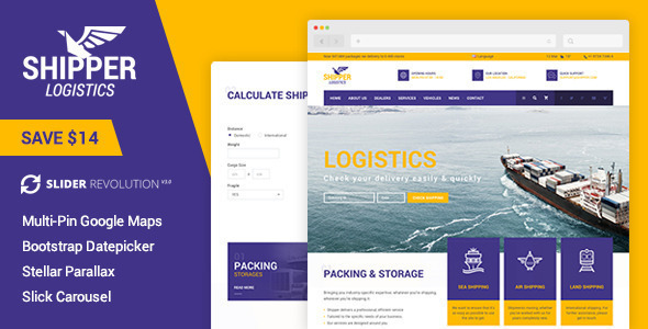 Shipper Logistic - Transportation WordPress Theme - Corporate WordPress
