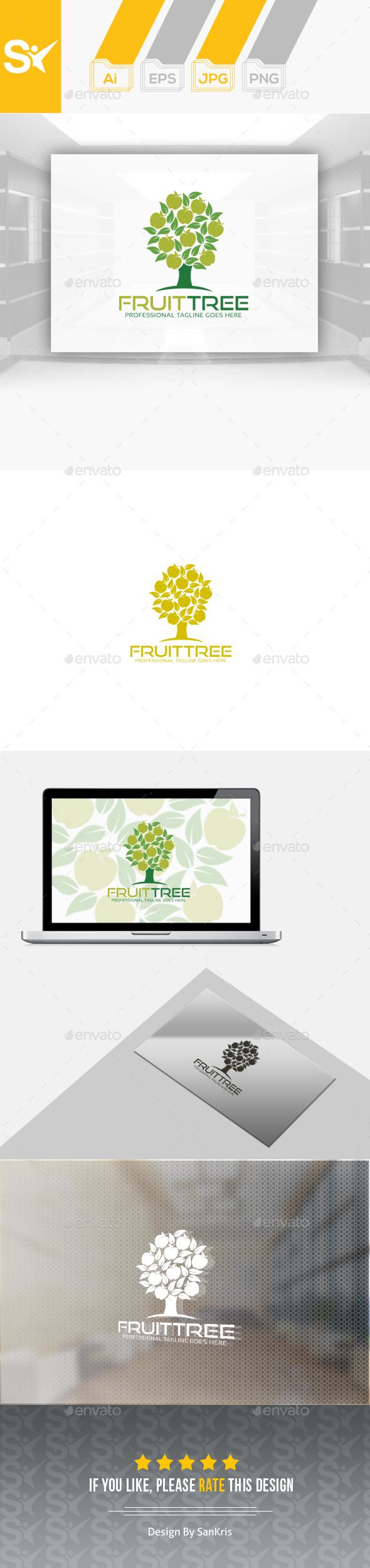 Fruit Tree Logo - Food Logo Templates