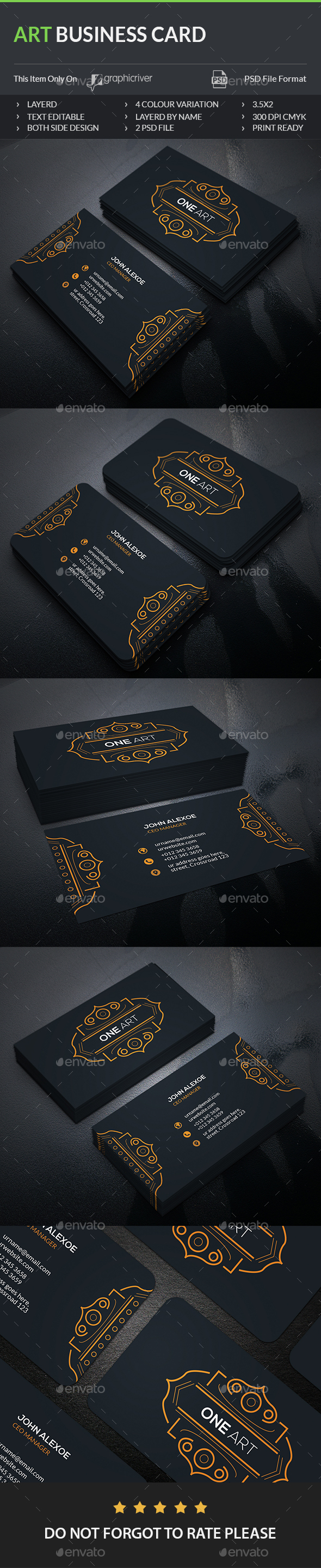 Art Business Card - Creative Business Cards