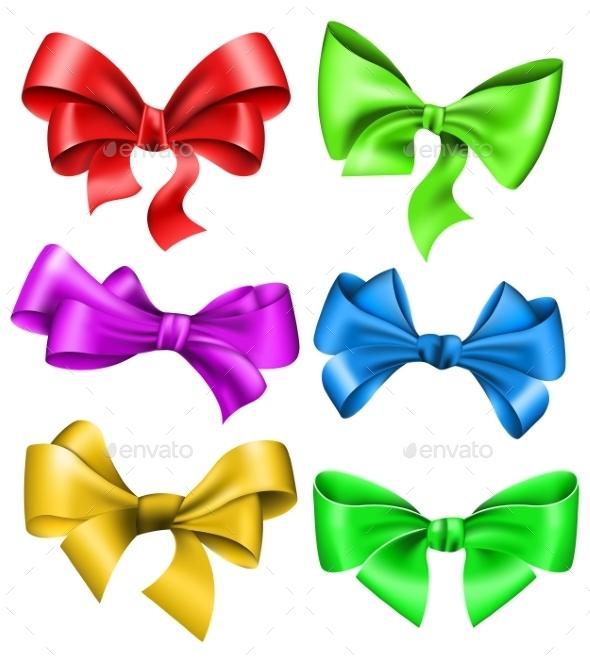 Set of Bows - Decorative Symbols Decorative