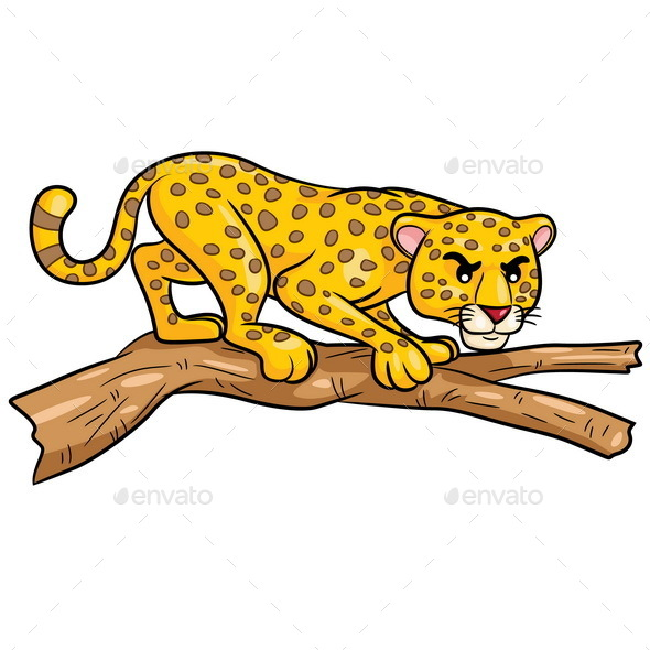 Leopard Cartoon - Animals Characters