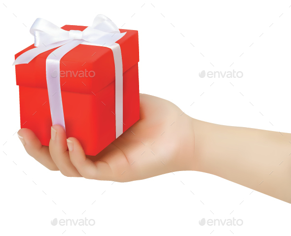 Gift Box in Hand - Miscellaneous Seasons/Holidays