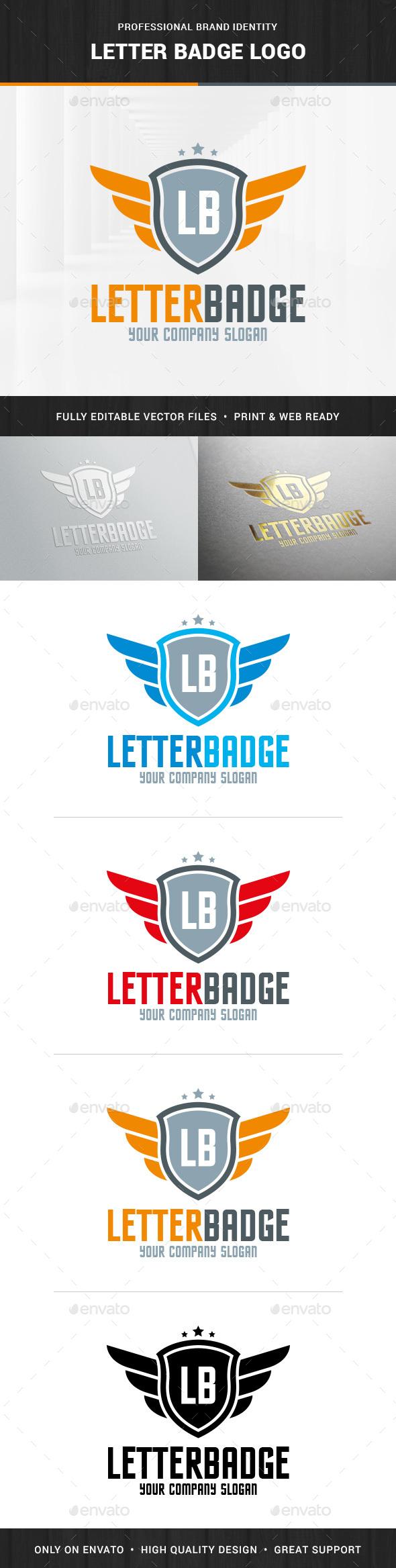 Letter Badge Logo Template - Letters Logo Templates
