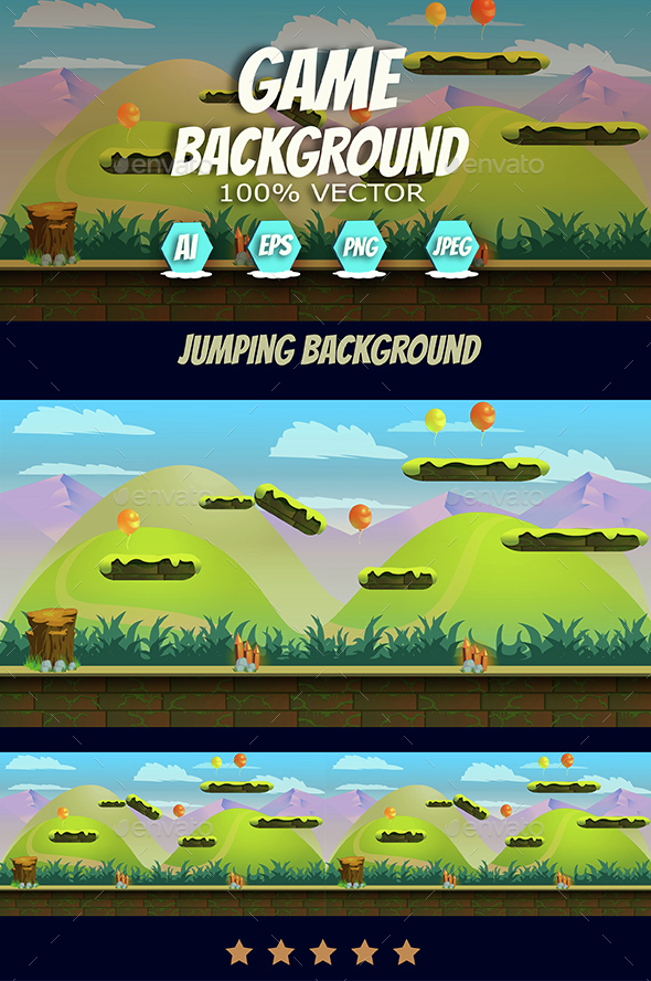 Jumping Game Background - Backgrounds Game Assets