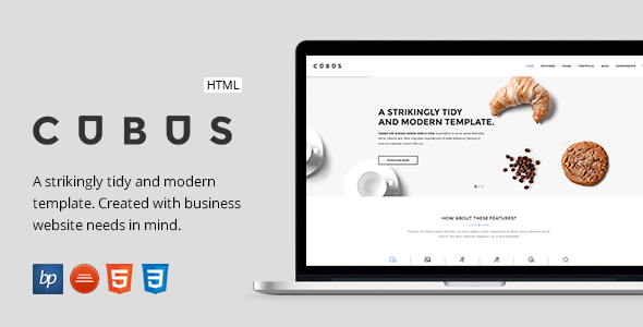 Cubus – Responsive Business HTML5 Template