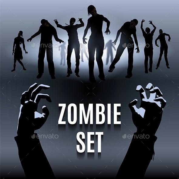 Zombie Set - Halloween Seasons/Holidays