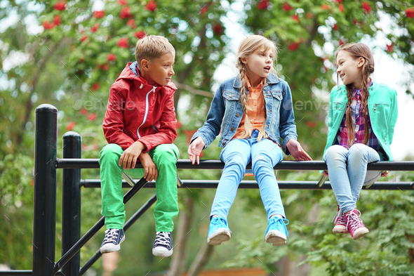 Carefree kids - Stock Photo - Images