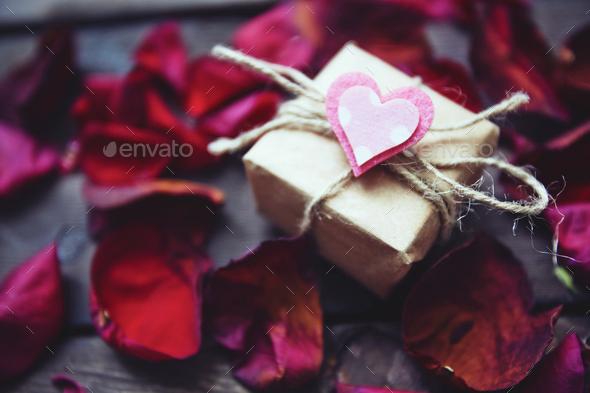 Romantic gift - Stock Photo - Images