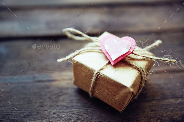Gift for valentine - Stock Photo - Images