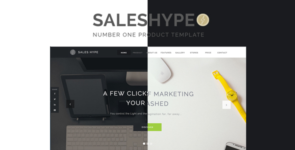 SALES HYPE – Single-Page Product, Promotion and  Services Sale Muse Template