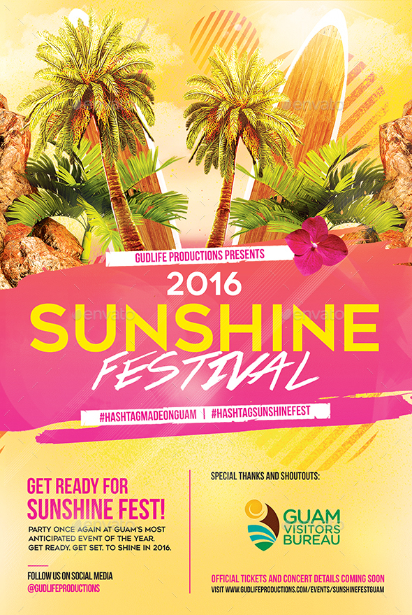 sunshine festival flyer by buzzmark