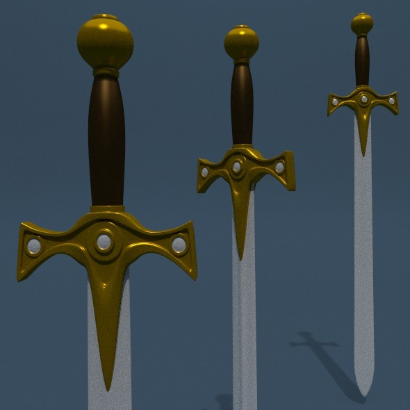Sword Base Mesh (B) - 3DOcean Item for Sale
