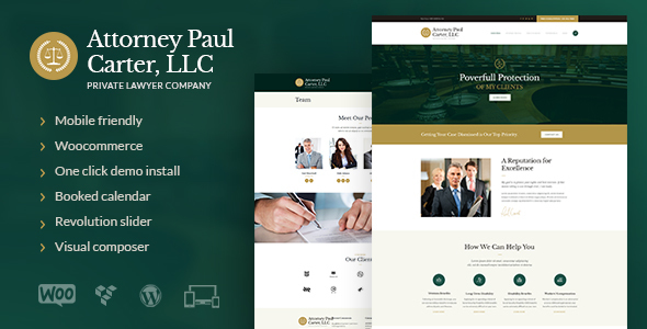 The Law - Legal Advisers & Attorneys WP Theme - Business Corporate