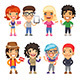 Trendy Dressed Cartoon Characters - GraphicRiver Item for Sale