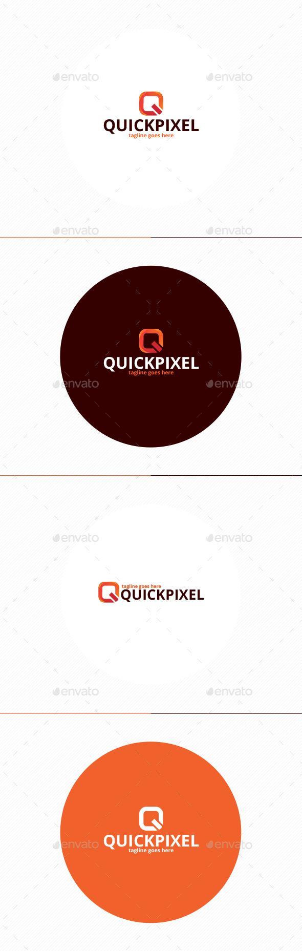 Quick Pixel Logo • Letter Q - Letters Logo Templates