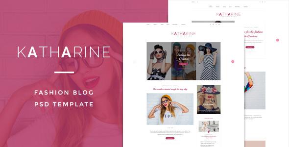 Katharine : Fashio Blog PSD Template