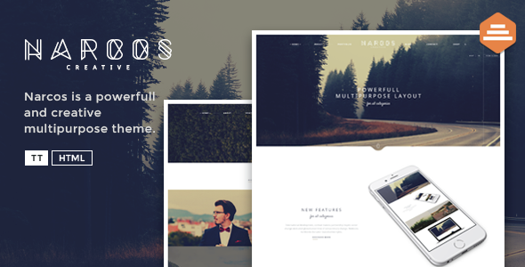 Narcos – Creative Multipurpose HTML template